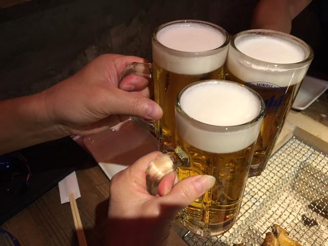 まずは、生ビールでしょ♡